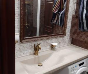 Столешница и мойка в ванной комнате